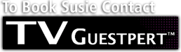 Book Susie through TV guestpert